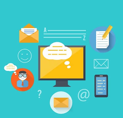 Concept of message and email technology