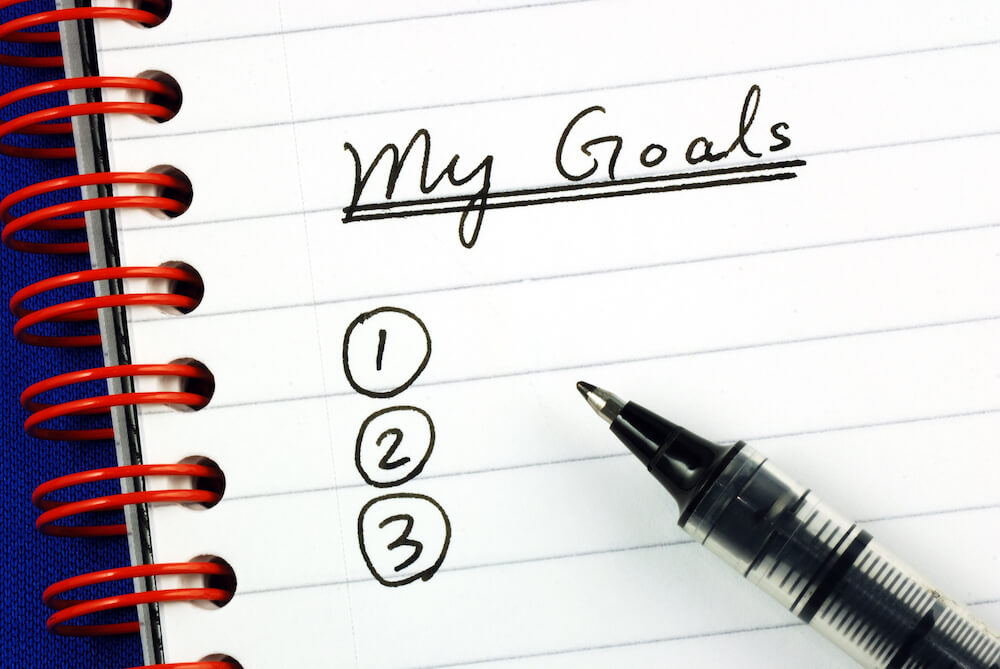 goal setting notebook